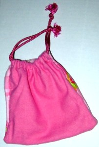 Drawstring Pouch Solid Pink