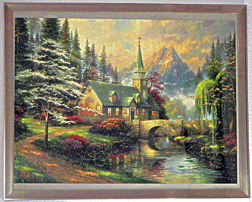 Dogwood Chapel Jigsaw Puzzle Preassembled And Framed