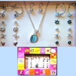 Jewelry Set - Opal Necklace Earrings Image