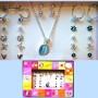 Jewelry Set - Opal Necklace Earrings Image
