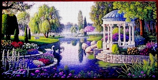 Secret Garden Jigsaw Puzzle PreAssembled and Framed