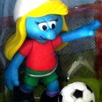 Female Smurfs Soccer Player Blonde Hair