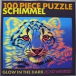 Glow in the Dark Puzzle of Snow Leopard Head