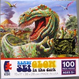 Tyrannosaurus Rex Showing His Teeth in Dinosaur Puzzle