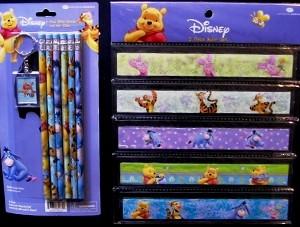 Winnie Pencils Rulers Key Chain Set