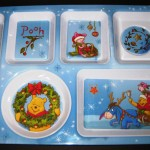 Winnie Christmas Tray - Upper View