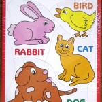 Tray Puzzle with Bunny Bird Cat Dog
