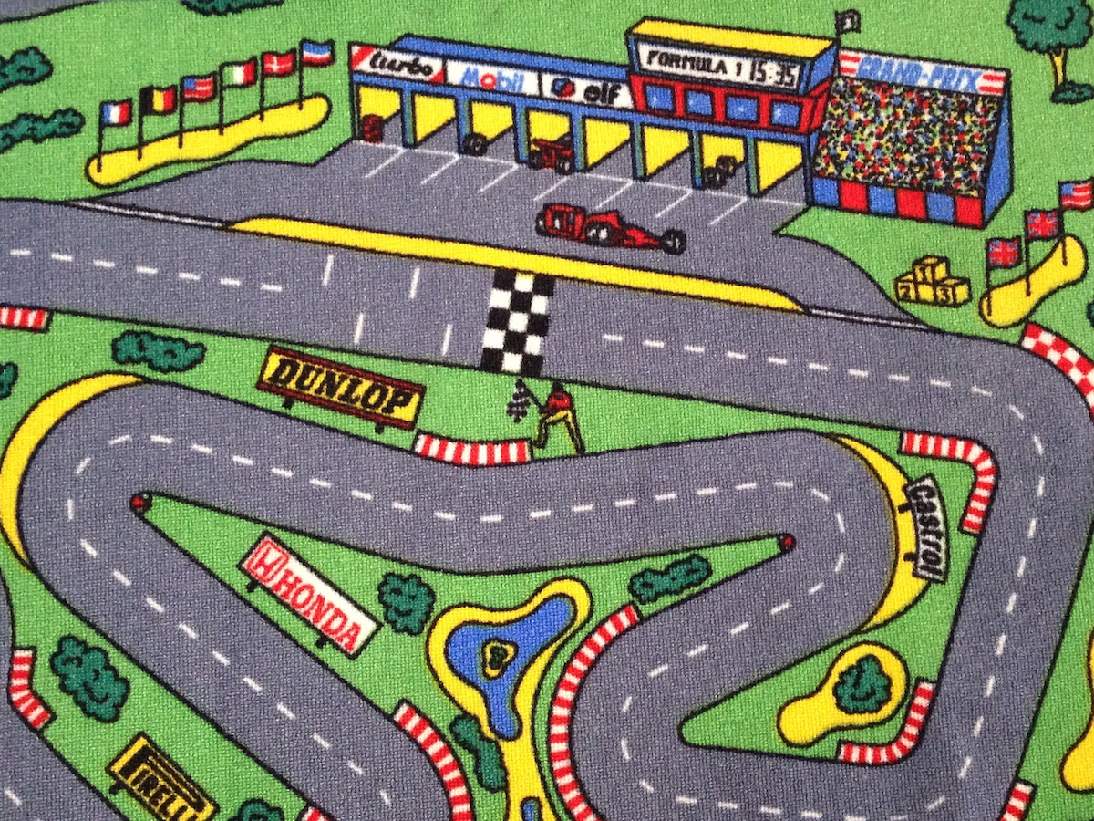 Race Car Track Rug Home Decor