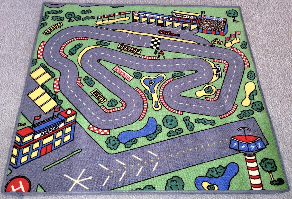 RaceWay Floor Rug For Kids