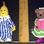 Bananas N Pajamas Lined Up Ruler View Closeup