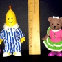 Bananas N Pajamas Lined Up Ruler View II