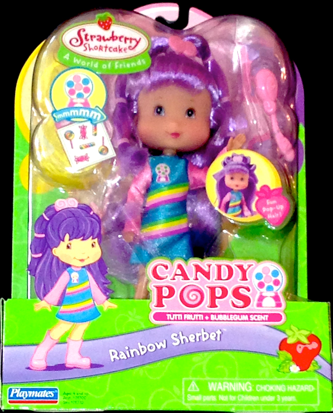 Candy Pops Rainbow Sherbet Doll Strawberry Shortcake