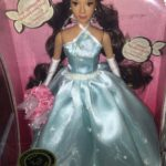 Princess Quinceanera porcelain doll in light aqua blue gown