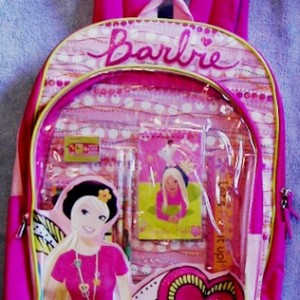 Pink Barbie Doll Backpack