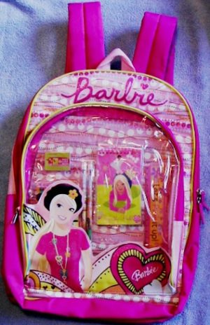 Pink Barbie Doll Backpack