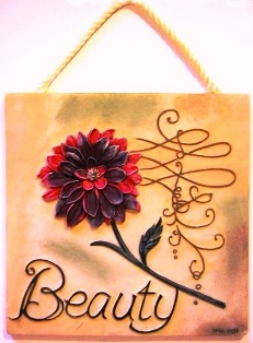 Beauty Wall Plaque Plus Flower
