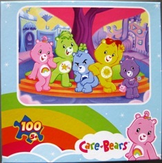5 Care Bears Pose in 100 Piece Puzzle