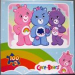 3 Care Bears Pink Blue Purple