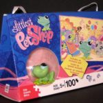 Littlest Pet Shop - Puzzle with Green Frog Figure - Web Small