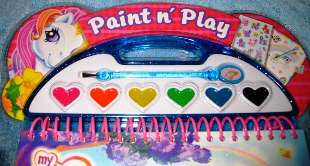 my little pony paint n play paints set activity book plus