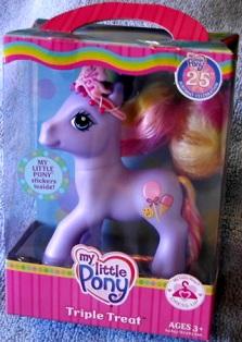 Triple Treat Purple My Little Pony Wearing Crown