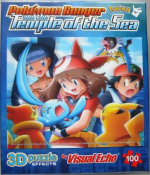 May Holds Manaphy in Temple of the Sea Puzzle