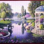 PreAssembled Framed Puzzle Garden Scene