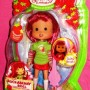 Strawberry Shortcake doll with light pink guitar brush.