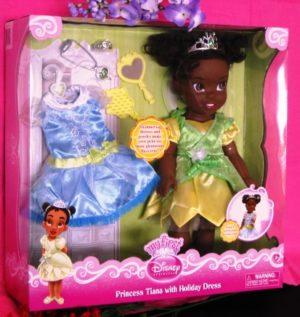 Princess Tiana Holiday Doll Plus Extras