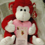 Red and White Ty Beanie Baby Monkey