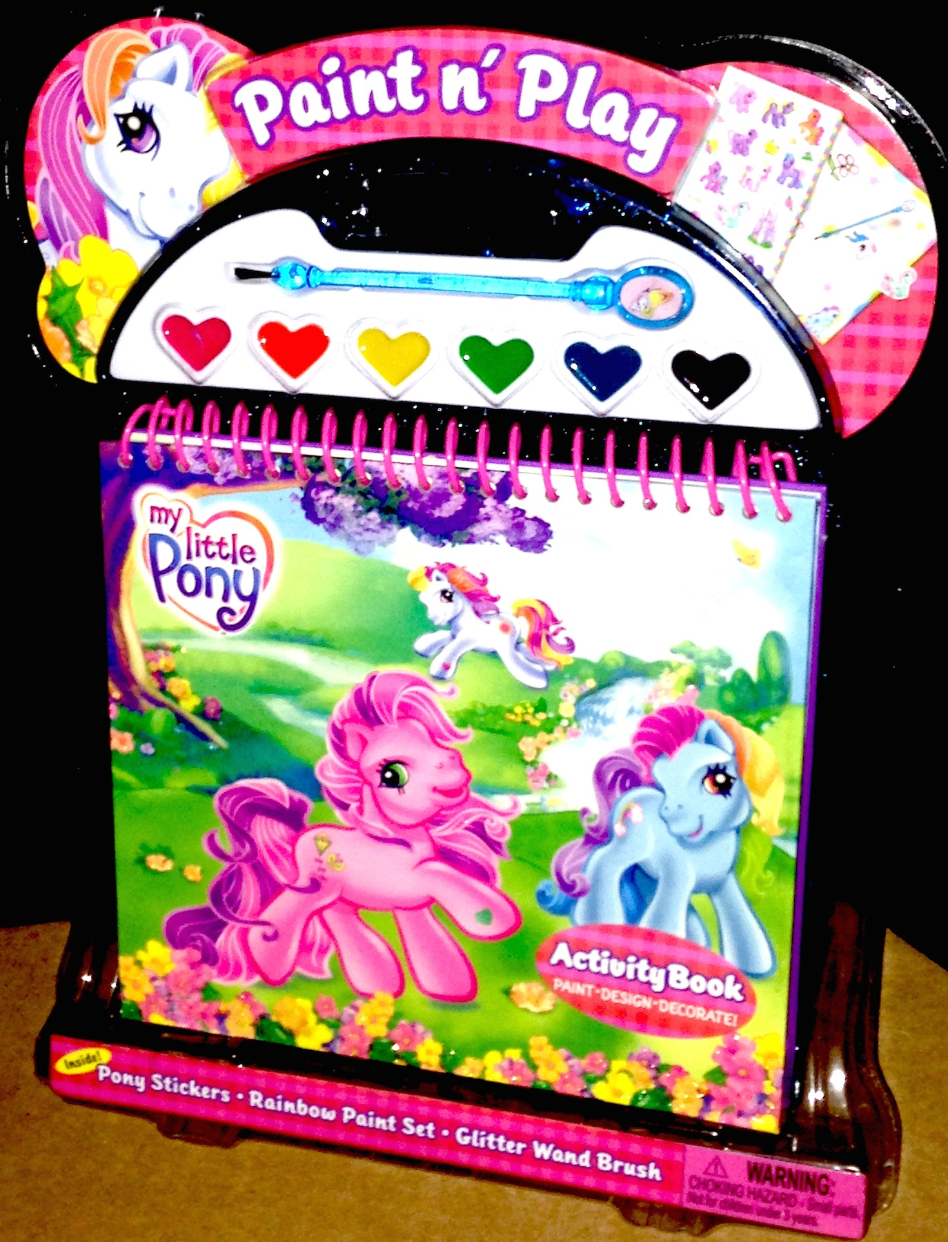 My Little Pony Paint N Play Paints Set Activity Book Plus Stickers Sticker Books Pretty Pink