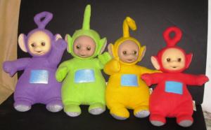 Talking Teletubby Dolls Tinky Winky, Dipsy, Laa Laa, Po