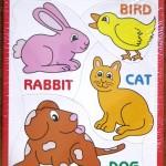 Tray Puzzle with Bunny Bird Cat Dog