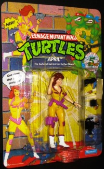 April Newscaster Ninja Turtle Figure