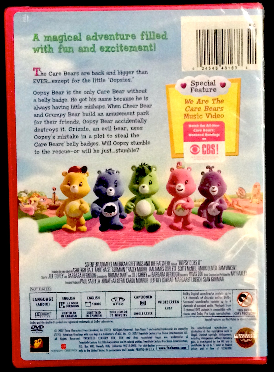 Care Bears Oopsy Does It Dvd Purpletoyshop