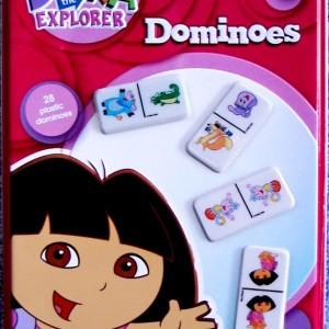Dora Dominoes in Red Tin Box