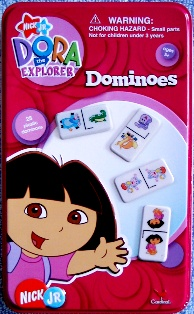 Dora Dominoes in Red Tin Box
