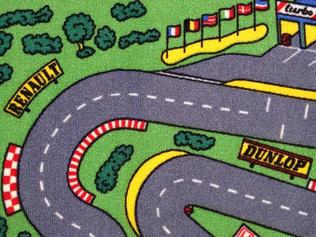 Race Car Floor Rug for Kids | PurpleToyShop.com