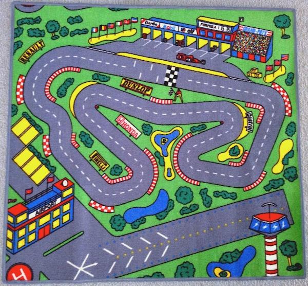 race car floor rug for kids