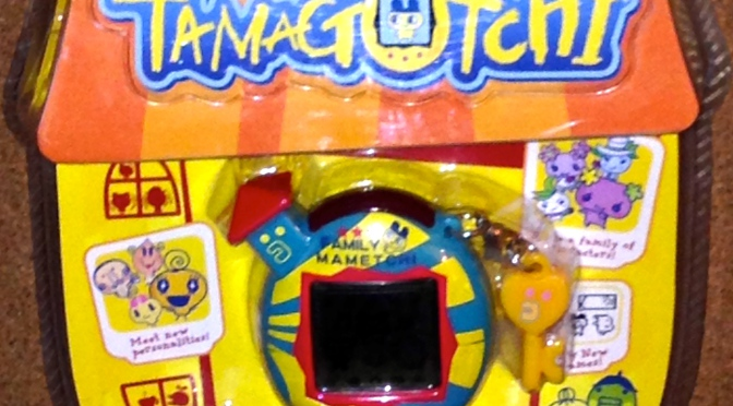 Familiy Mametchi Tamagotchi Character Blue with Yellow Stripes